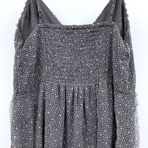American Eagle Outfitters Dresses - American Eagle Gray Polka Dot Pleat Babydoll Dress
